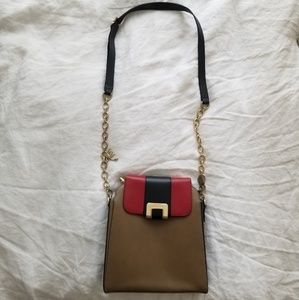 Bally Colorblock Leather Crossbody Bag